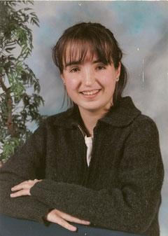 Nathalie à 17 ans, peu de temps avant qu'elle rencontre Saeed Al Sharahni