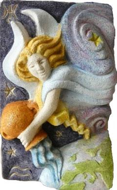Sculpture peinte