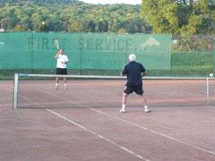 Trainingsspiel im Sommer