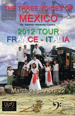 Affiche de la tournée de l'Ensemble Vocal.