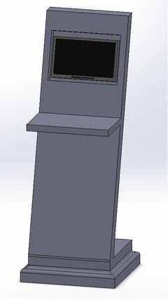Das Design für den Infoturm steht fest.