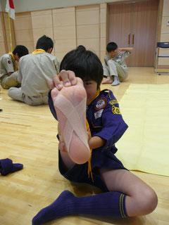 足のテーピング