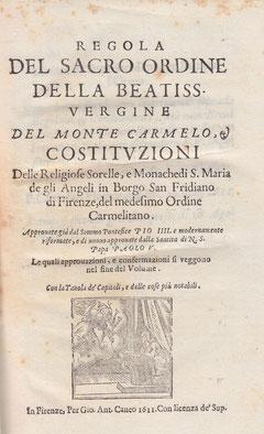 Le prime Costituzioni a stampa del 1611