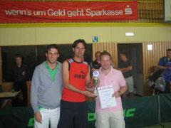 Die Pokalsieger Nico Stehle, Andreas Bäcker und Markus Schäfer