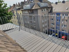 Dachterrasse in schiefer