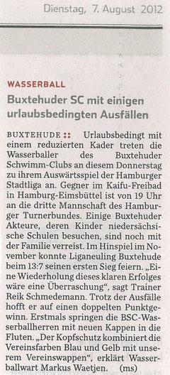 Hamburger Abendblatt vom 07.08.2012