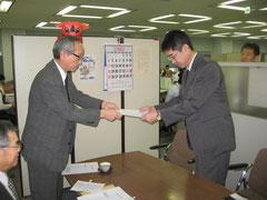 千葉県企業庁への要望書提出