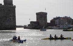 Les pirogues Taho'e vieux port de La Rochelle