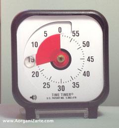 utiliza un cronometro o time timer - www.AorganiZarte.com