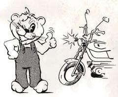 """Illustration - """"Le Dépannage des circuits éléctriques sur cyclomoteurs"""" - Février 1975"""