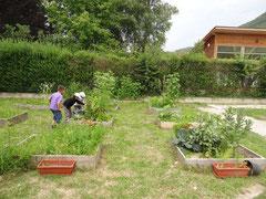Le jardin de l'école de Brégnier-Cordon