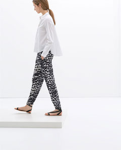 Zara tribal printed soft formal joggers