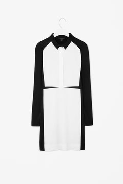 Cos black and white shirt dress