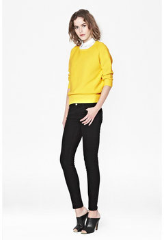 French Connection Yellow ribbed jumper