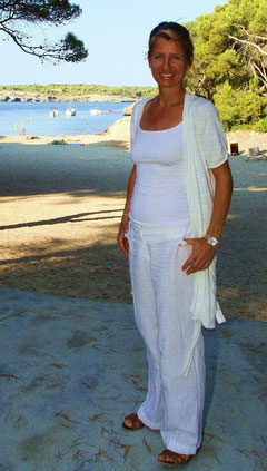 Birgit am Strand