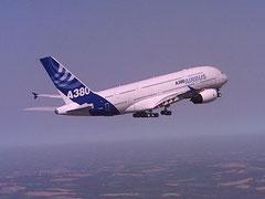 A380 Essais dans le ciel du Sud-Ouest en Avril 2005