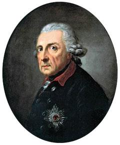 Friedrich der Große 68jährig