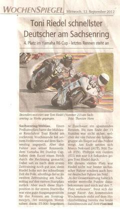 Wochenspiegel Glauchau, Sachsenring, Spitzengruppe