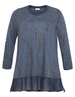 Damenpullover in A-Form blau Größe 52