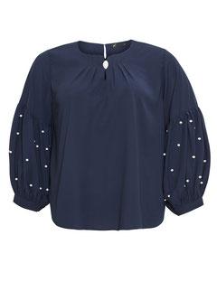 Bluse mit Ballonärmel marineblau Größe 52