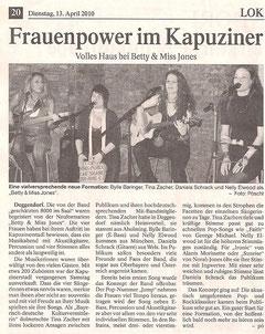 Deggendorfer Zeitung, 13.4.2010