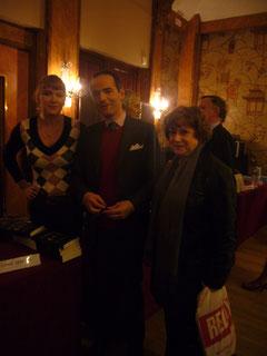 Remise du Prix de l'histoire du Guesclin, le 7 décembre 2011 au Cercle National des Armées, Paris, 8ème. Avec Franck Ferrand, membre du jury.
