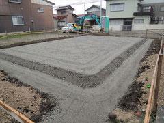 基礎下砕石の施工