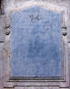 Inscriptions sur le Monument