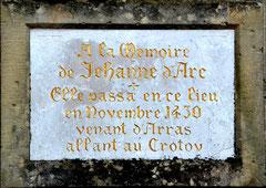 A la mémoire de Jeanne d'Arc