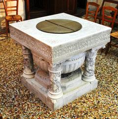 Fonts baptismaux de la basilique d'Albert