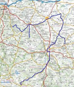 La Creuse : Carte de notre périple 2020