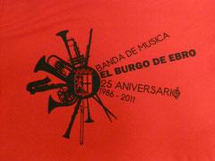 Dibujo de las camisetas conmemorativas, realizado por Javier Díez Zarza