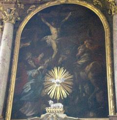 Hochaltarbild: Lanzenstich in Jesu Herz