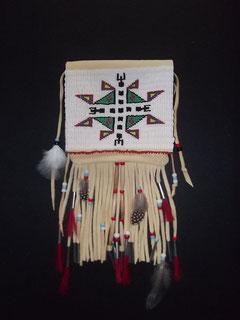 Indianer Gürteltasche mit Siouxmuster