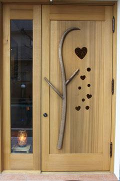 ハート 玄関ドア