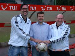 v.l.n.r.: Daniel Breher, Dr. Jens Rehhagel, Jörg Roth