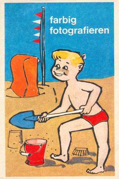Aufdruck einer Fototüte aus den 60er Jahren