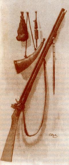 якутское ружье. рисунок из книги
