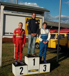 Die Gesamtsieger 2009 in der Klasse K4. Lars Dählmann auf Platz 2
