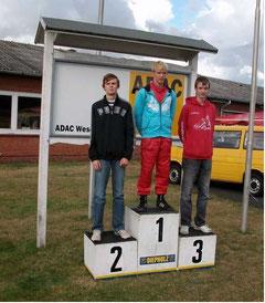Die Gesamtsieger 2009 in der Klasse K5. Tobias Jalaß auf Platz 3