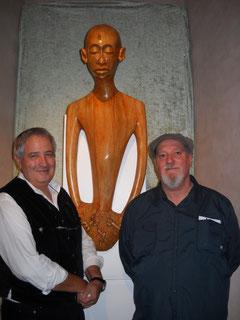avec le sculpteur antoine pallavicini - 2012