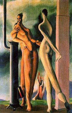 Oscar Domingez,Homenaje al Greco,1937 La pareja su punto de referencia fue el Greco aportando al movimiento surrealista una atmósfera irreal con armonía cromática.