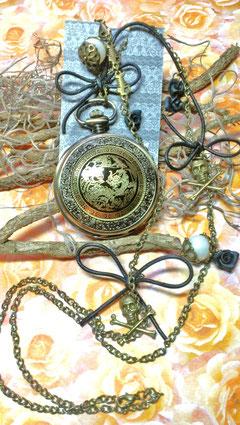 Black Pirat Clock 19d#