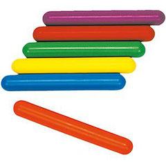 Bâtons de relais PVC multicolores pour l'athlétisme des enfants.