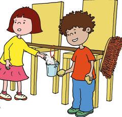Nela und Tom experimentieren mit der Erdanziehungskraft