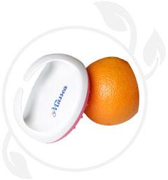Bild: massagebürste mit orange
