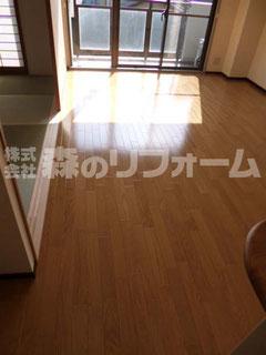 松戸市マンションリフォーム リビングリフォーム クロス貼替 フローリング重ね張