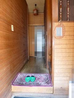 松戸市 介護保険リフォーム 玄関廊下手摺取付前
