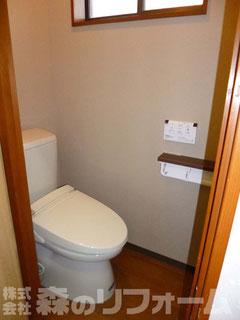 松戸市トイレリフォーム 和便器を撤去して洋便器を設置 洗浄便座も取付ました