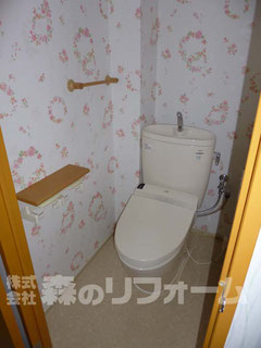 松戸市マンションリフォーム トイレリフォーム クロス貼替 クッションフロア貼替